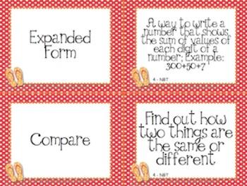 Beach Theme Grade Four CCSS Complete Vocabulary Program