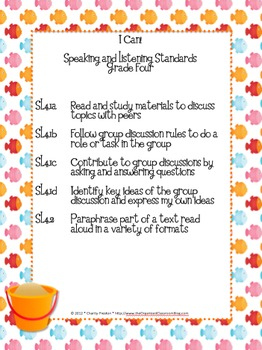 Beach Theme Grade Four Common Core Lesson Planning Pack