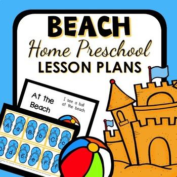 Beach Theme Home Preschool Lesson Plans