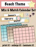 Beach Theme Mix & Match Calendar Set