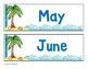 Beach Theme Months of the Year Signs