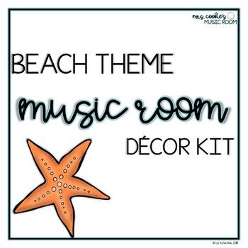 Beach Theme Music Room Decor Kit