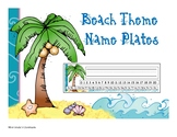 Beach Theme Name Plates
