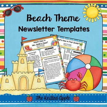 Beach Theme Newsletter Templates