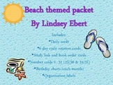 Beach Theme Packet {days of the week, numbers, specials, labels, and more}