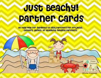 Beach Theme Partner Cards