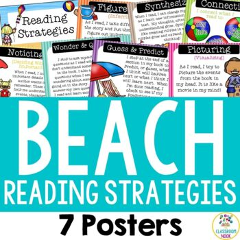 Beach Theme: Reading Strategies Posters by The Classroom Nook | TpT