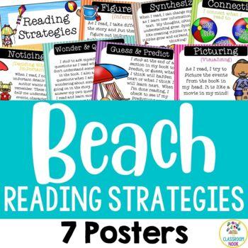 Beach Theme:  Reading Strategies Posters