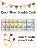 Beach Theme Schedule Cards