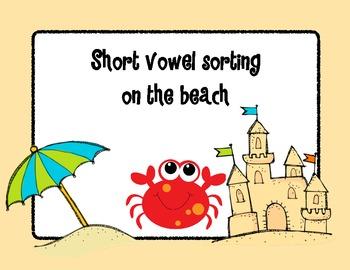Beach Theme Short Vowel Sorting Center