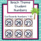 Beach Theme Student Numbers 1-30