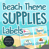 Supply Labels for Drawers, Bins, Baskets & Editable Blank