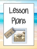 Beach Theme Teacher Binder Dividers and Beginning Year Information Sheets