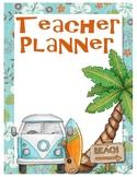 Beach Theme Teacher Planner Printable