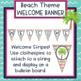 Beach Theme Welcome Bulletin Board