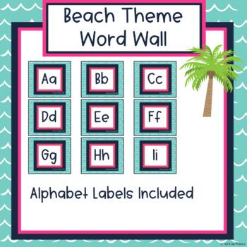 Beach Theme Word Wall