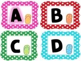 Beach Theme Word Wall Letters