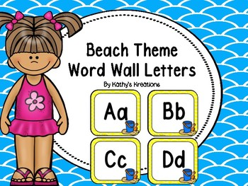 Beach Word Wall Letters A-Z Dollar Deal