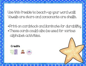 Beach Theme Word Wall Header Cards {Freebie}