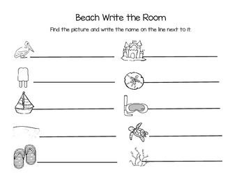 Beach Theme Write the Room