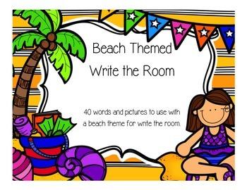 Beach Theme Write the Room