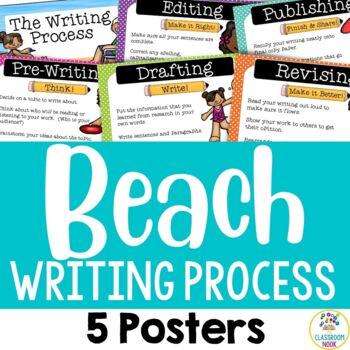 Beach Theme:  Writing Process Posters