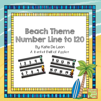 Beach Theme number line to 120