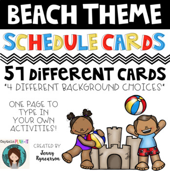 Beach Theme (with Dunn-Inspired Font) Schedule Cards!