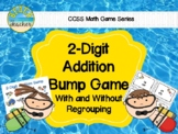 Beach Themed 2 Digit Addition With & Without Regrouping Bump Game 2.NBT.5