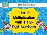 Beach Themed 2-Digit Multiplication Link 4 Game
