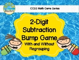 Beach Themed 2-Digit Subtraction With & Without Regrouping Bump Game 2.NBT.5