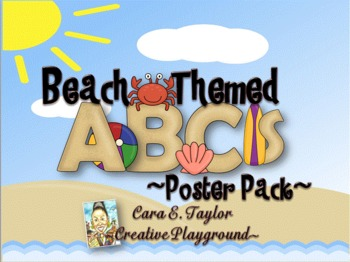 Beach Themed~ ABC Poster Pack