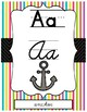 Beach Themed ABC Print AND Cursive Posters for Handwriting Reference Class Decor