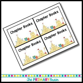 Beach Themed Accelerated Reader (AR) Classroom Library EDITABLE Book Bin Labels