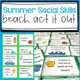 Beach Themed Act It Out! Fun and Active Social Skills Activity for Body Language