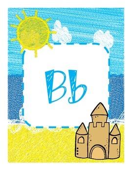 Beach Themed Alphabet