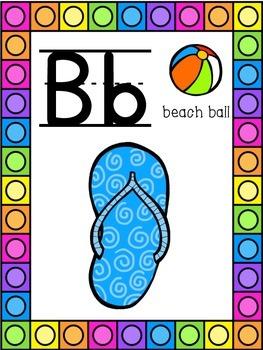 Beach Themed Alphabet Posters