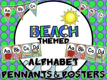 Beach Themed Alphabet Posters & Pennants