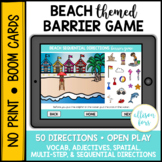 Beach Themed Barrier Game BOOM Cards™️ Speech Therapy Distance Learning