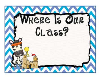 Beach Themed Where Is Our Class Chart