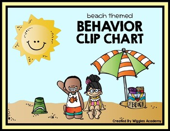 Beach Themed Behavior Clip Chart