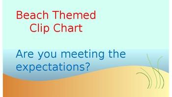 Beach Themed Behavior Clip chart