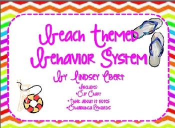 Beach Themed Behavior System {Clip chart, behavior rewards, and parent note}