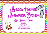 Beach Themed Behavior System {Clip chart, behavior rewards, and parent note}