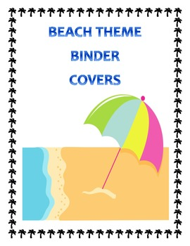 Beach Themed Binder Covers