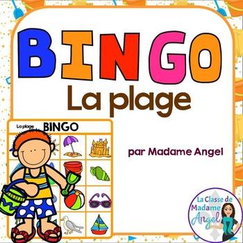 Beach Themed Bingo Game in French