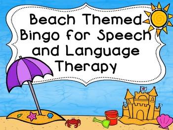 Beach Themed Bingo for Speech Therapy
