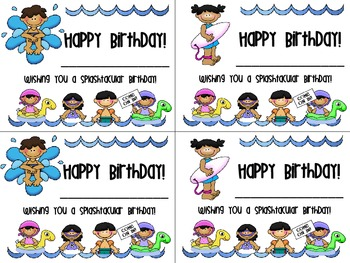 Beach Themed Birthday Cards