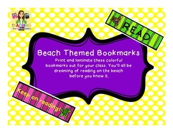 Beach Themed Bookmarks