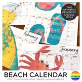Beach Themed Calendar